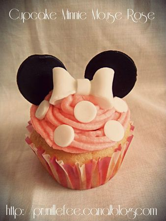 cupcake pink minnie mouse