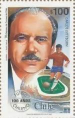 1962 Timbre Chili Carlos Dittborn