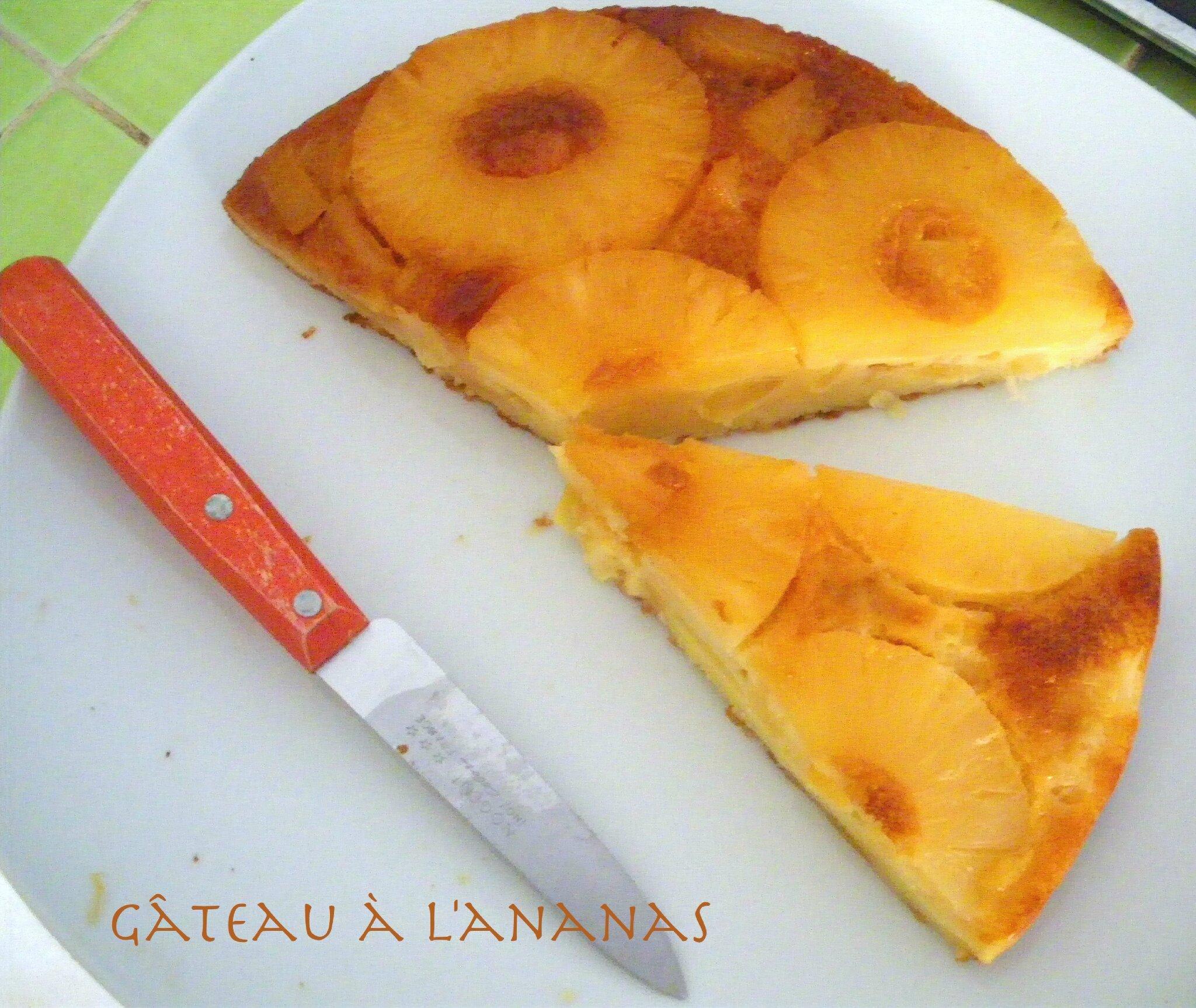 Gateau ananas seche