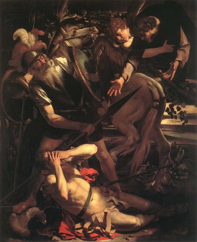 Caravaggio, Conversion de Saint-Paul (1600), h/t, 230x175cm.