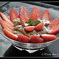 Compotée de rhubarbe et fraises