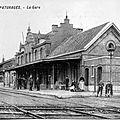 Panneau 3 - Pâturages Gare carte ancienne 1