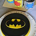 Molly cake au nutella - logo batman 3d