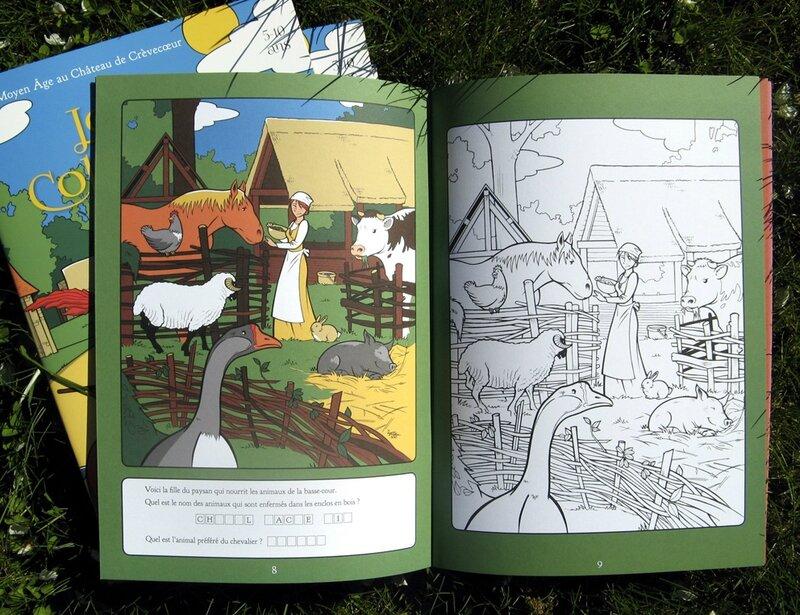 livre de coloriage chateau de crevecoeur remi bostal 3