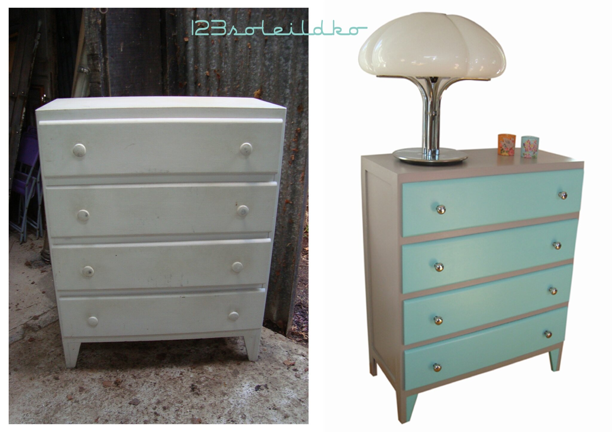 commode vintage 50's