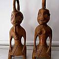 Statuettes d'iroko retenir l'etre aime pour toute sa vie du maitre dah gandossi