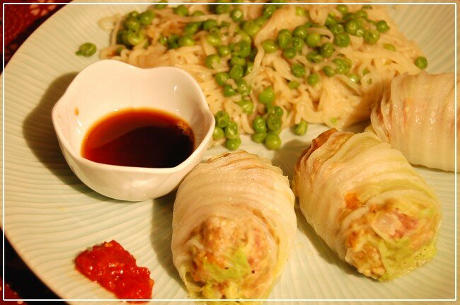 Nouvel an chinois et choux chinois farcis au porc et aux noix de cajou d lices du kerala - Cuisiner du choux chinois ...