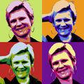Portrait pop'art quatro, nuanciers ABCD