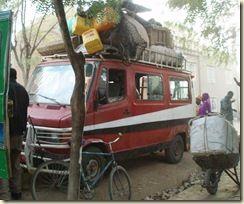 Fourgon minibus transport public Mali