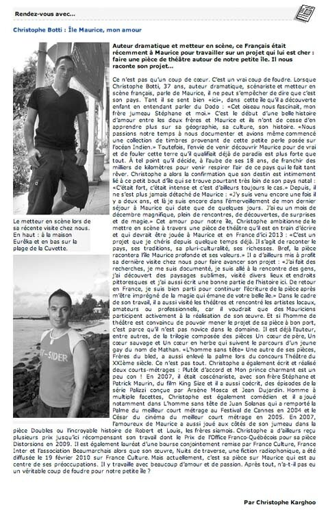 christophe interview maurice 2011 72dpi