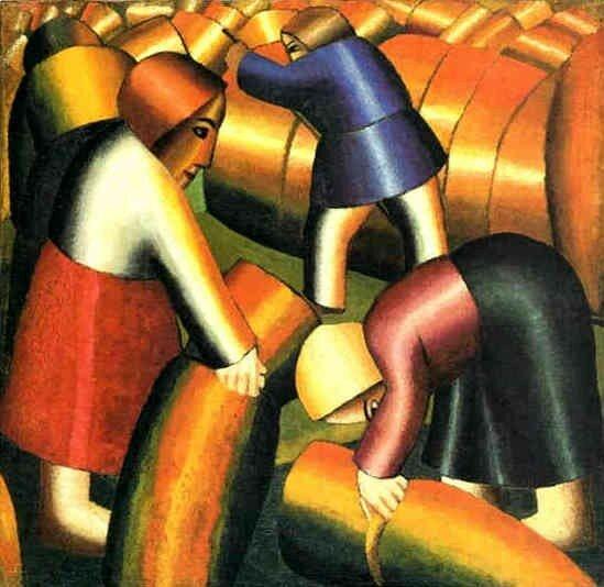 Kasimir Malevitch, La moisson du seigle, 1912