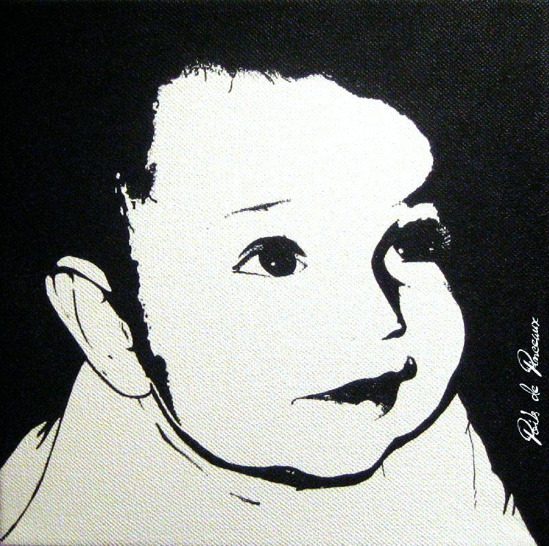 Portraits Noir Blanc Poils De Pinceaux