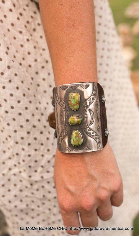 MP Bracelet argent & pierre tusrquoise sur lanière en cuir ajustable