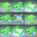 Ourson velours vert