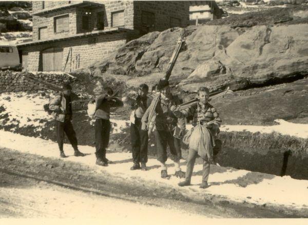 27 tbg oukaîmeden ,les cigognes noël 1955