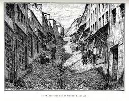 Lyon Montée de la Grande Côte au 16e siècle
