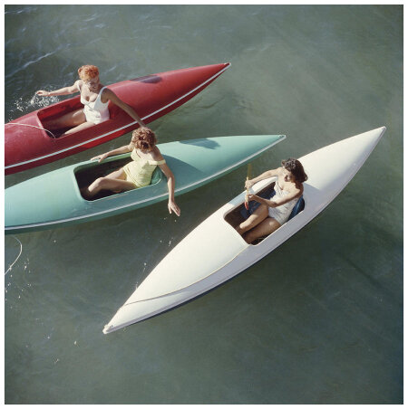 young_women_canoeing_on_the_nevada_side_of_lake_tahoe_1959_slim_aarons