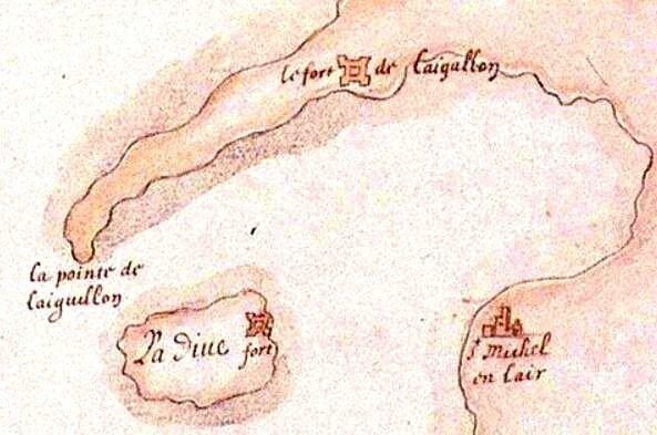forts de la Dive et de l'Aiguillon 1627