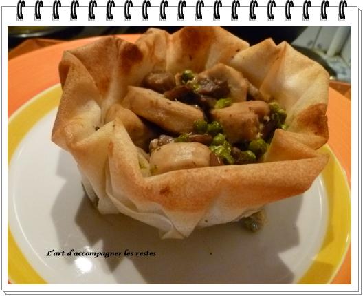 Feuilletés de poulet au Roquefort et pignons3