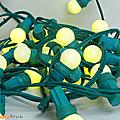 Déco ... guirlande lumineuse * ampoules unies