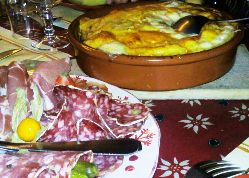 2013 10 10 - dîner savoyard à La baratte col de Leschaux (4) - la matouille
