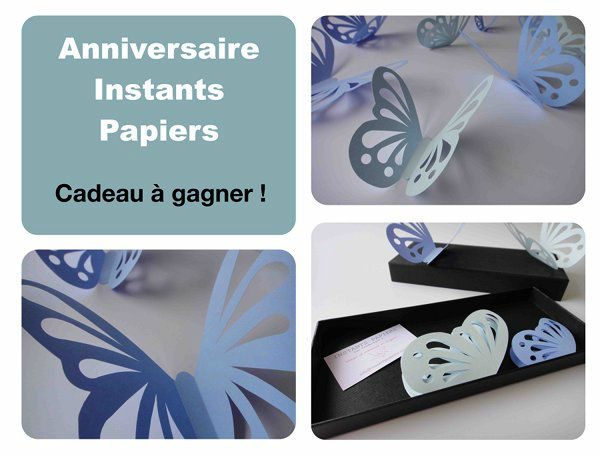 Stickers papillons instants papiers
