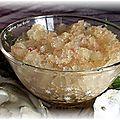 Granité d'échalotes au vinaigre