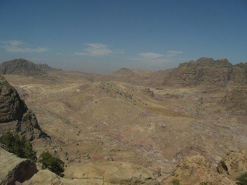 Petra, vue depuis le site du Sacrifice
