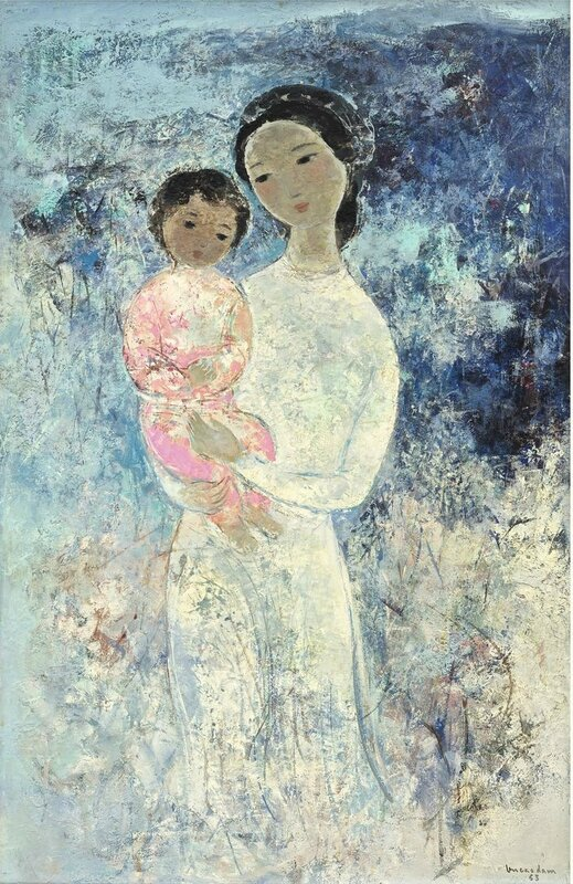 Vu Cao Dam (1908-2000), Maternité (Maternity), 1963