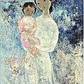 Vũ cao đàm (1908-2000), maternité (maternity), 1963