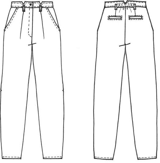 Cousette Patterns - Pantalon Gambette