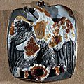 Roman cameo, 1st-3rd century ad. fragment of the apotheosis of caesar claudius