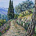 chemin au printemps dans les mont de Vaucluse