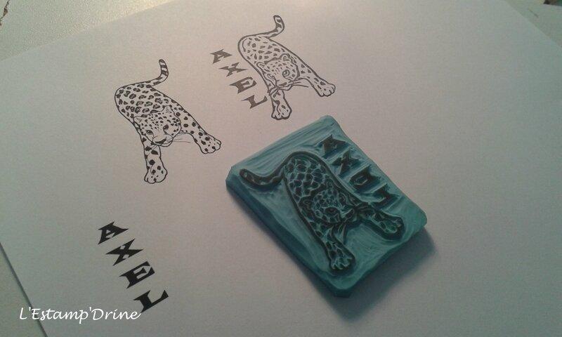 gravure sur gomme guepard