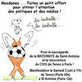 Pour la sauvegarde de la maternité de st antoine + du civg de tenon / paris