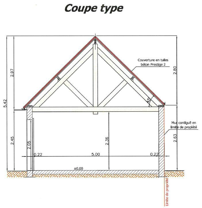 Cr ation d un garage fourniture d un dossier de plan b for Construction garage parpaing plan