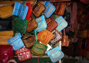 maroquineries en vente aux Tanneries Chouwara FES Maroc