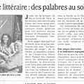 On en parle dans la presse ... le café littéraire de mai