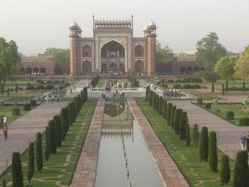 Porte d'entree du Taj Mahal