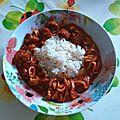 Ragout de calamars au chorizo, sans gluten, sans lait