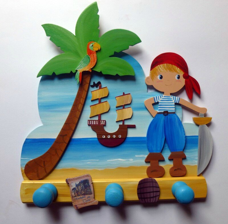 porte manteau petit pirate