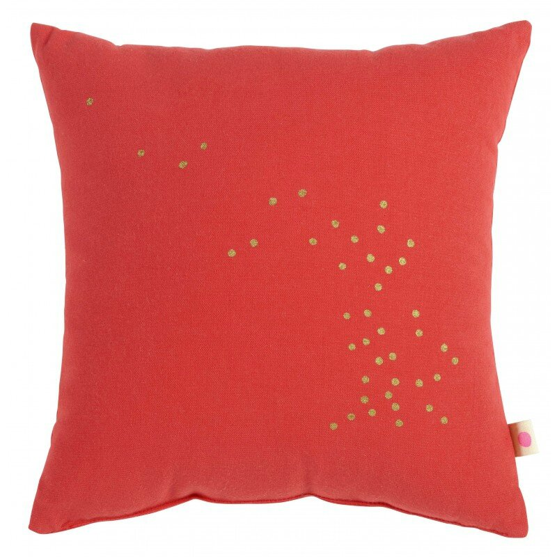 coussin 28 corail