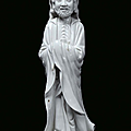 A Blanc de Chine porcelain monk, China, Dehua, Qing Dynasty, 18th century