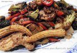 sauté de porc aux légumes sauce aux haricots noirs