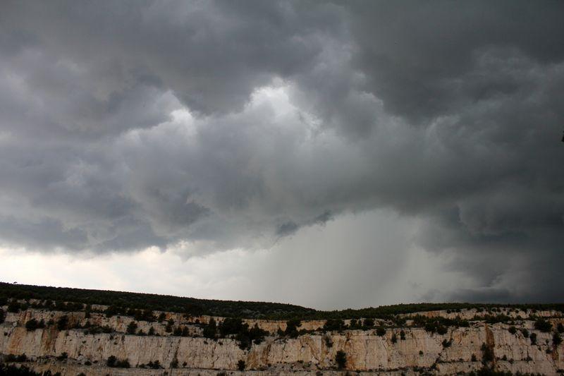 Quelques minutes avant l'orage du 18 juillet 2013