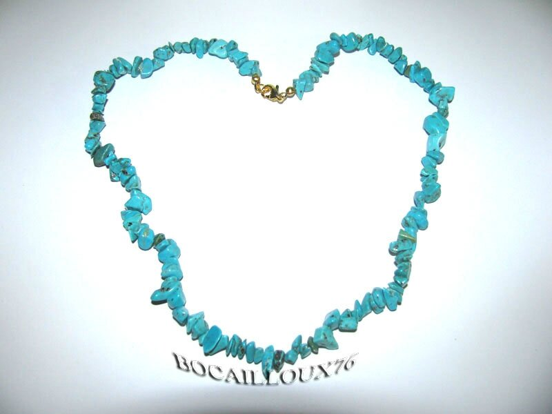 COLLIER HOWLITE TURQUOISE 1