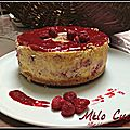 Cheesecake citron/framboise