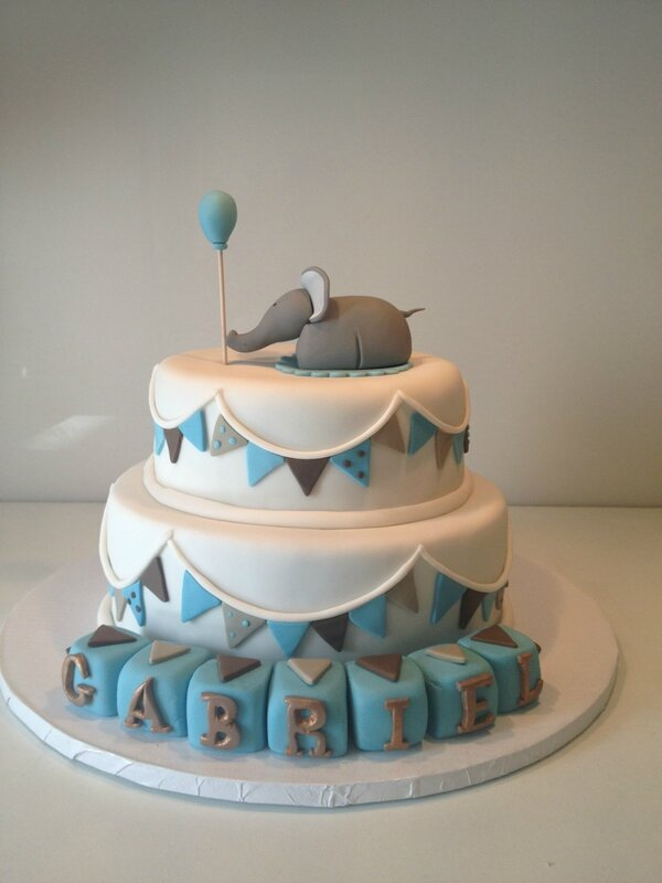 Bien-aimé Gâteau éléphant: le baptême de Gabriel - les gateaux de ka en 3D YD59