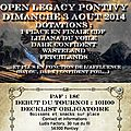 Open cdf legacy dimanche 3 août
