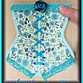Bloc post-it bustier turquoise